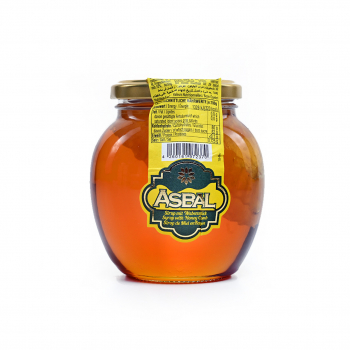 Asbal honey with honeycomb pieces 480g